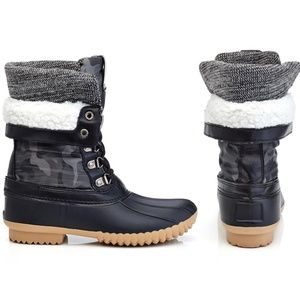 Women's Cold-Weather Lace-Up Ankle Duck Boots